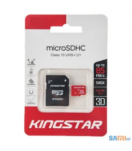 کارت حافظه کینگ استار کلاس 10 استاندارد UHS-I U1 سرعت 85MBps همراه با آداپتور SD ظرفیت 32 گیگابایت