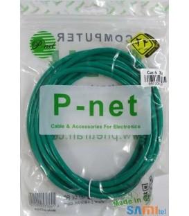 کابل شبکه Cat 5 پی نت طول 3 متر